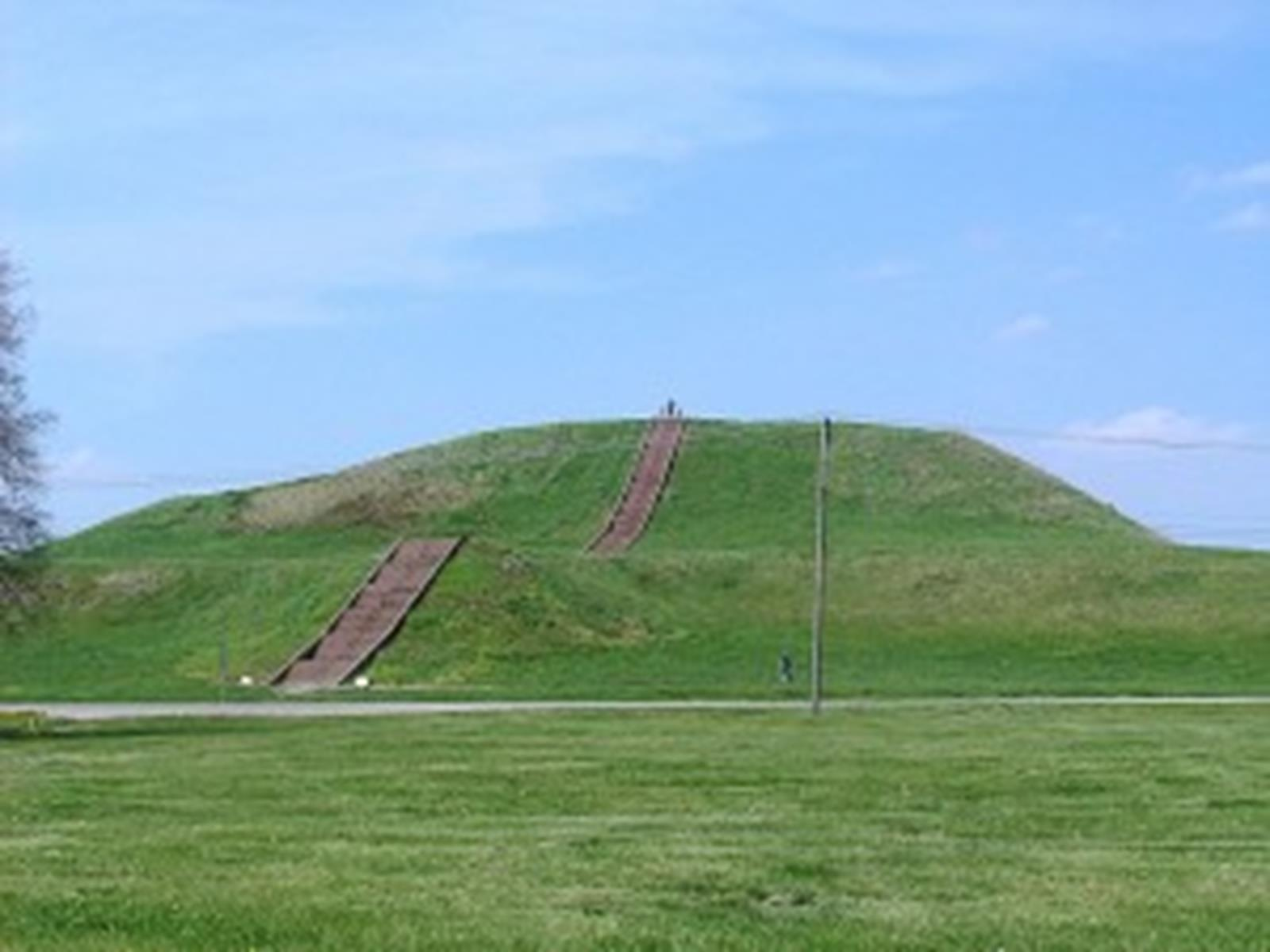 Monks Mound is part of the Cahokia Mounds State Historical Site