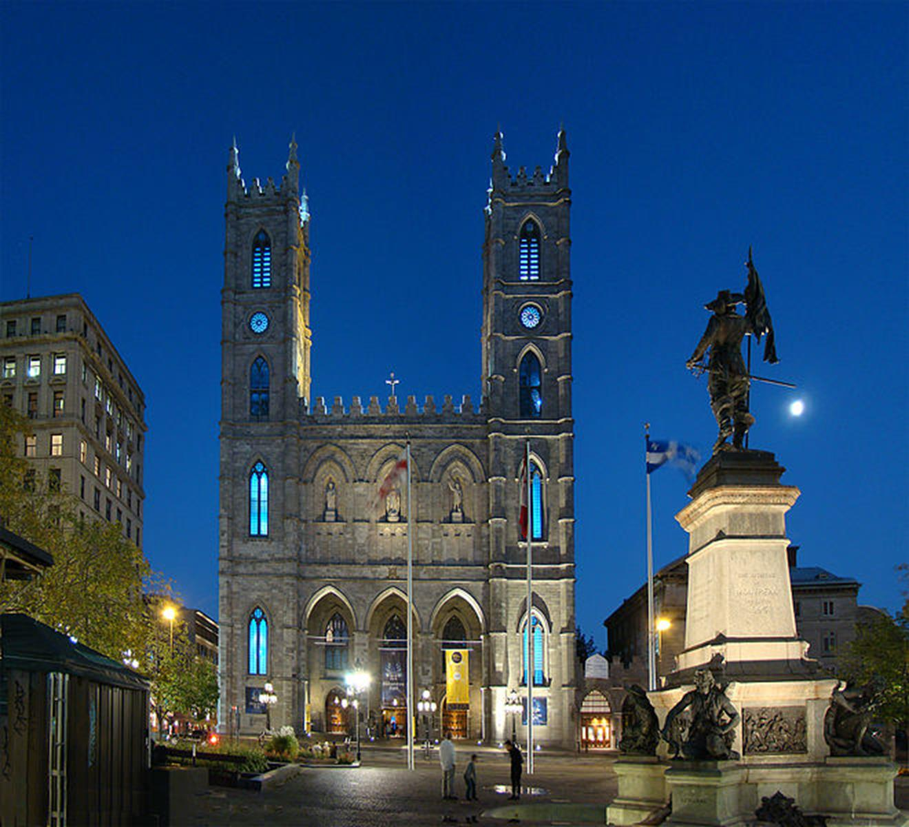 The Notre Dome Basilica at Night