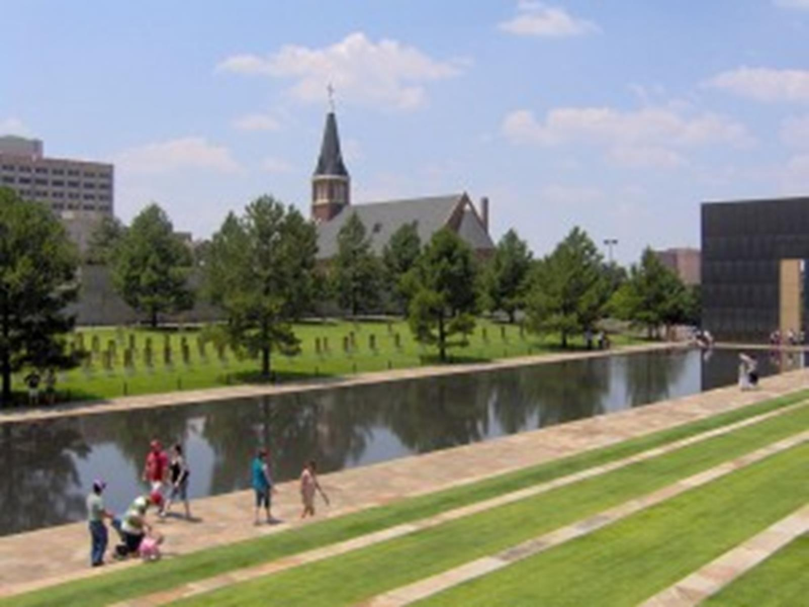 St. Joseph's Old Cathedral from the Oklahoma City National Memorial
