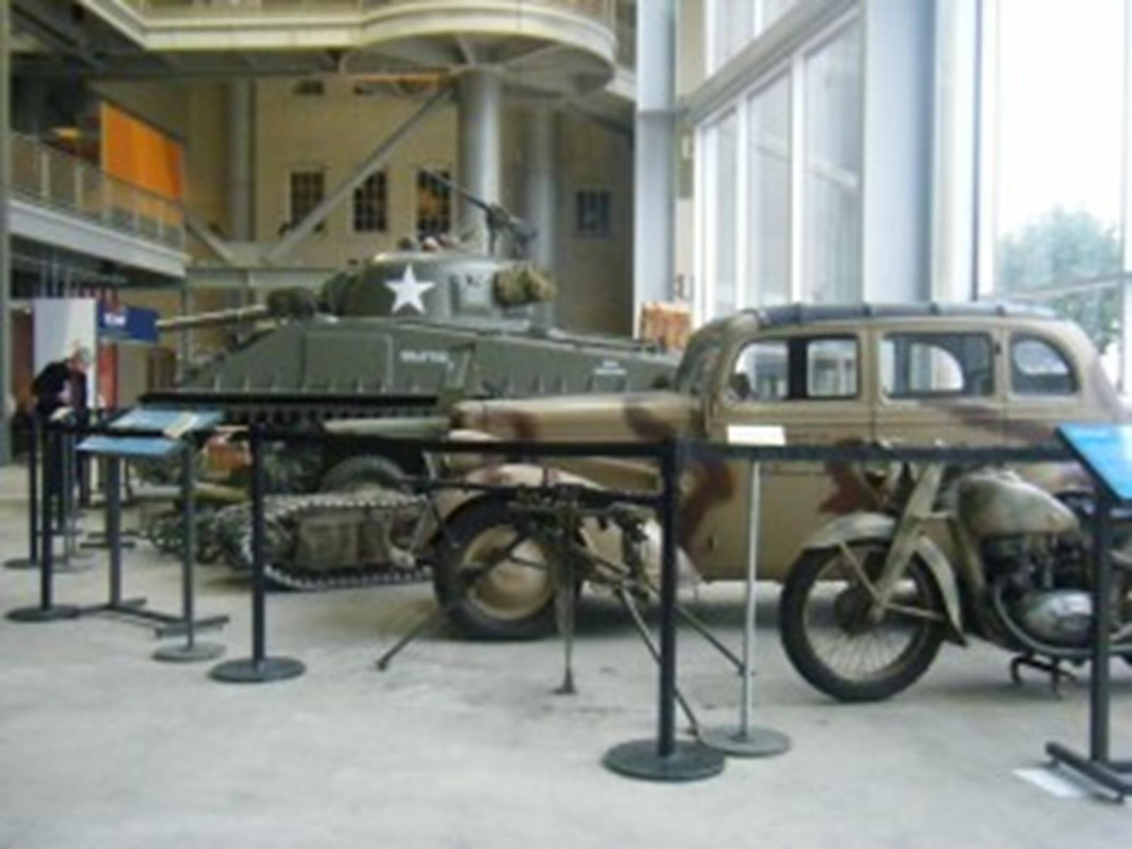 Military vehicles in the National World War II Museum, New Orleans