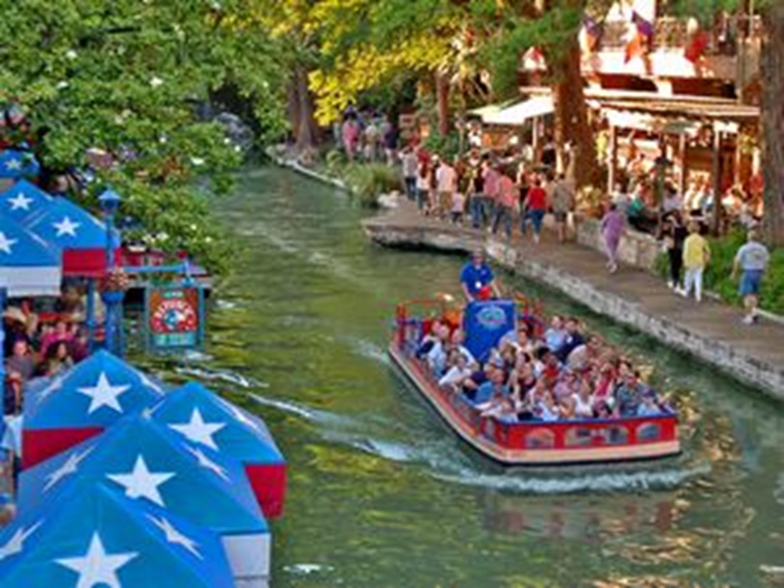 Travel Along the San Antonio River Walk for many events. Photo Courtest og