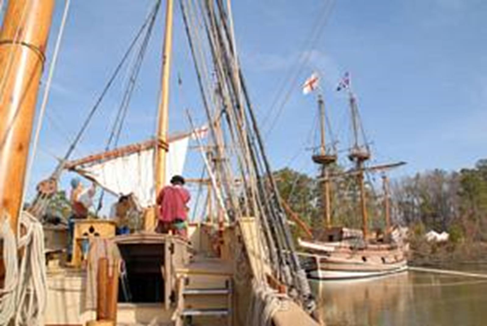 Jamestown Settlement original ship replicas