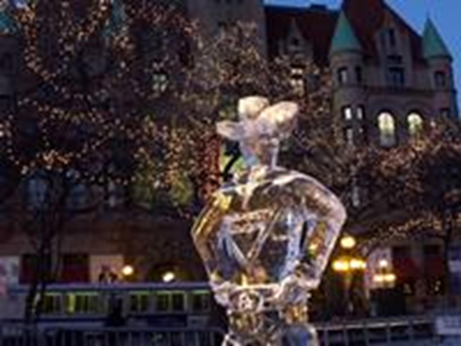 "Ice Sculpting is a large part of the Winter Carnival. Photo Courtesy of ""Visit Saint Paul"""