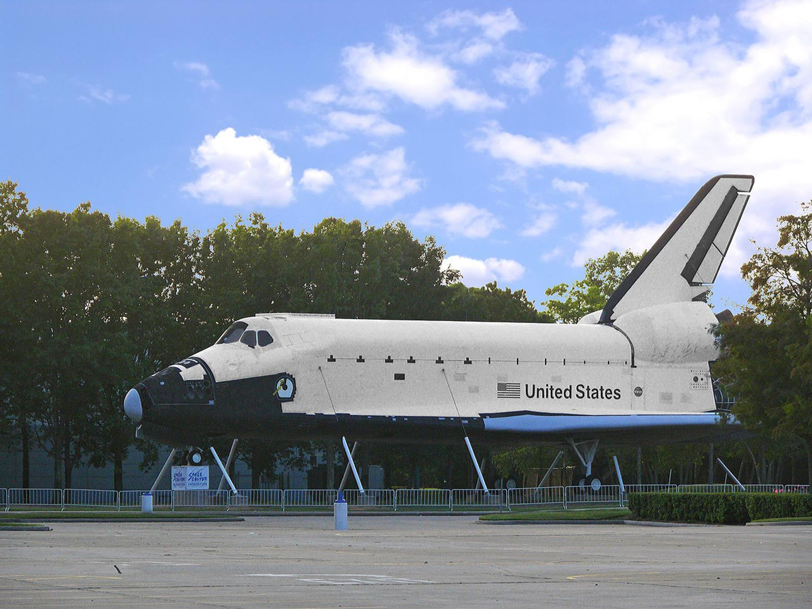 Space Shuttle Replica at the Space Station