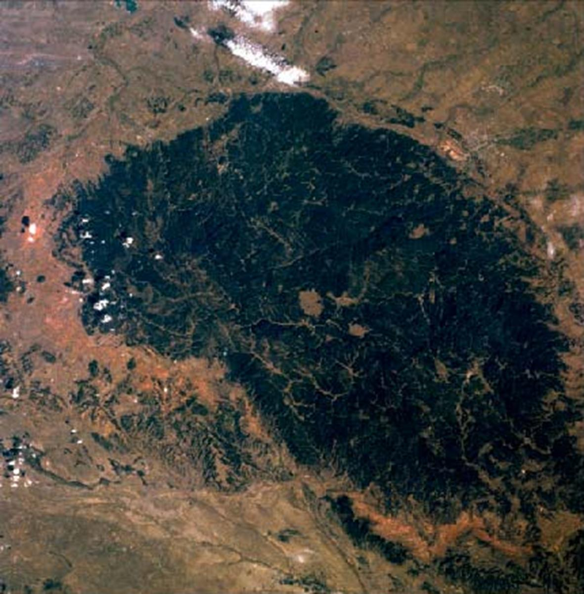 Black Hills from Space