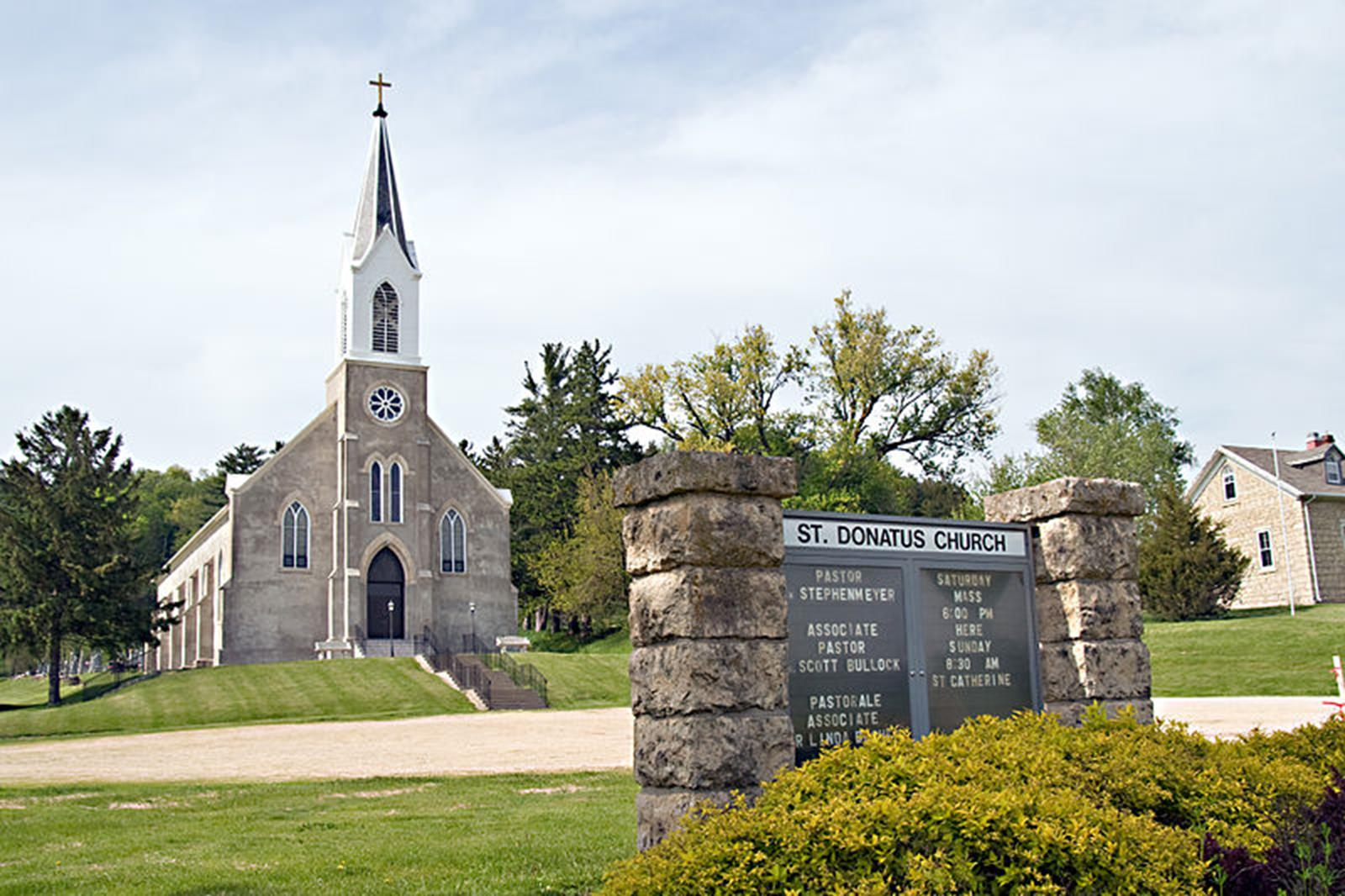 St. Donatus Catholic Church in St. Donatus, Iowa