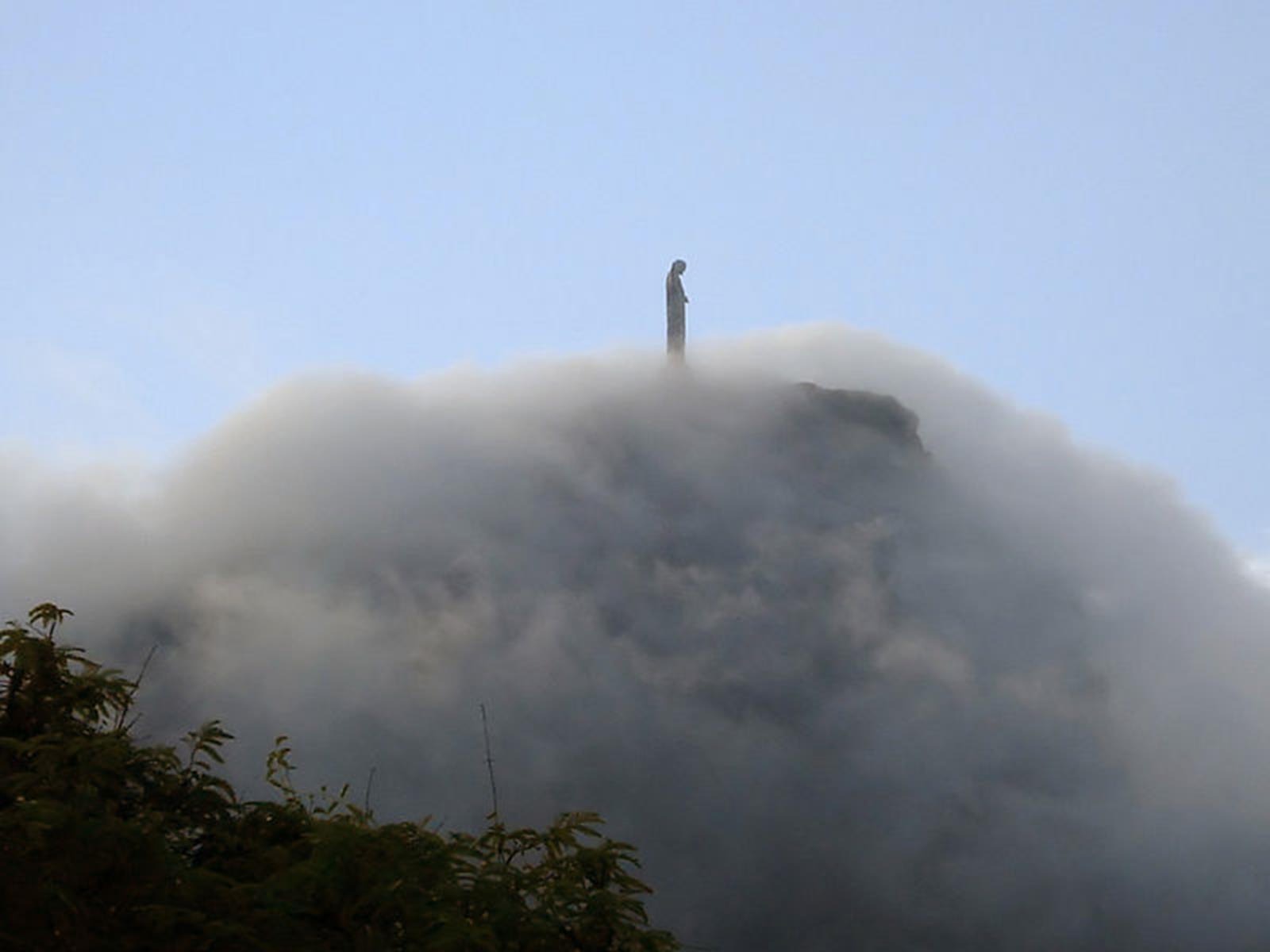 Clouds under the Statue of Christ