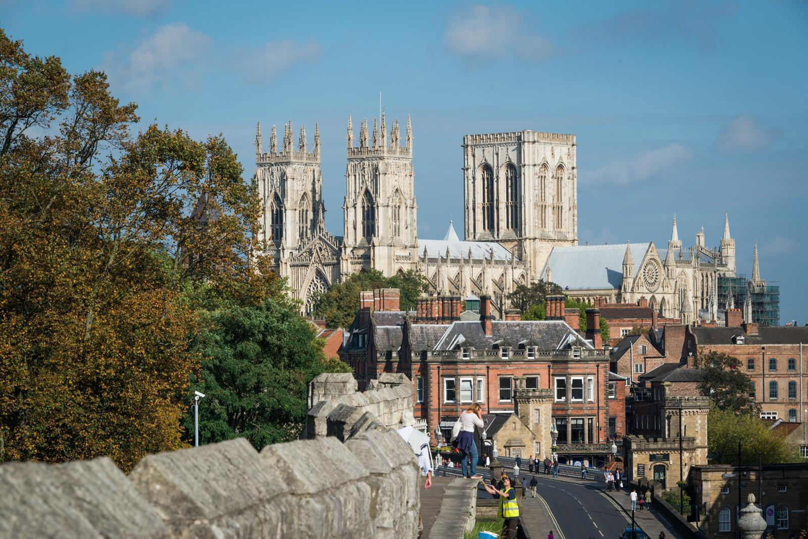 View of the Minster from the Walls, York.