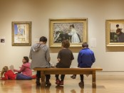 Museum galleries with visitors