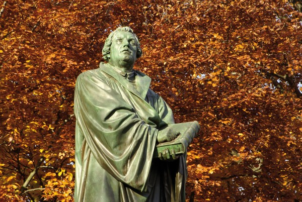 Statue of Martin Luther in Worms. Credit DZT/Andrew Cowin