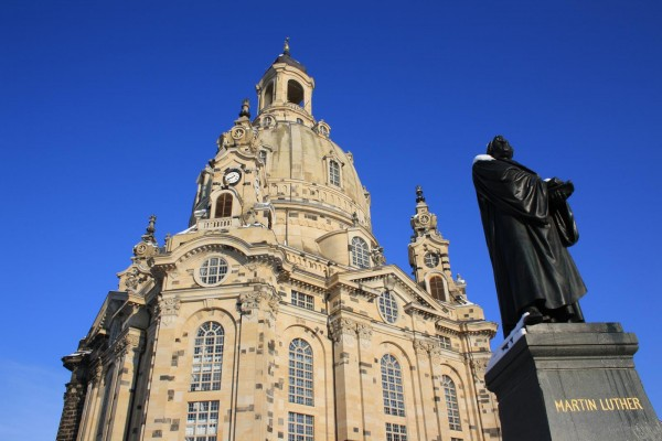 The Frauenkirche in Dresden is the best known symbol of protestantism in Germany