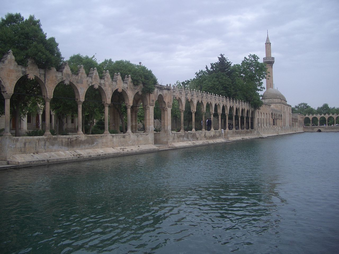 The holy pond (Balıklıgöl) in old city of Urfa, Turkey.